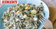 Turkkilainen jogurtti tuo piristystä salaattiin. Grains, Rice, Canning, Food, Heels, Heel, Essen, High Heel, Meals