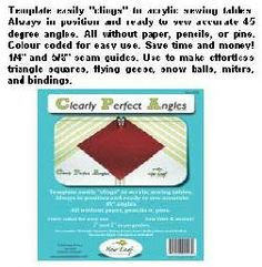 CLEARLY PERFECT ANGLES SEWING TOOL Perfect Angle, Sewing Tools, Angles, Triangle, Crafting, Coding, Accessories, Do Crafts, Crafts