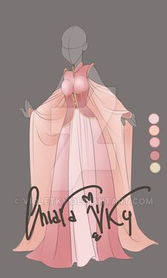 :: Adoptable Pink Quarz: CLOSED :: by VioletKy on DeviantArt Source by stogulkira drawing Dress Drawing, Drawing Clothes, Modelos Fashion, Anime Dress, Fantasy Dress, Deviantart, Character Outfits, Anime Outfits, Fashion Sketches