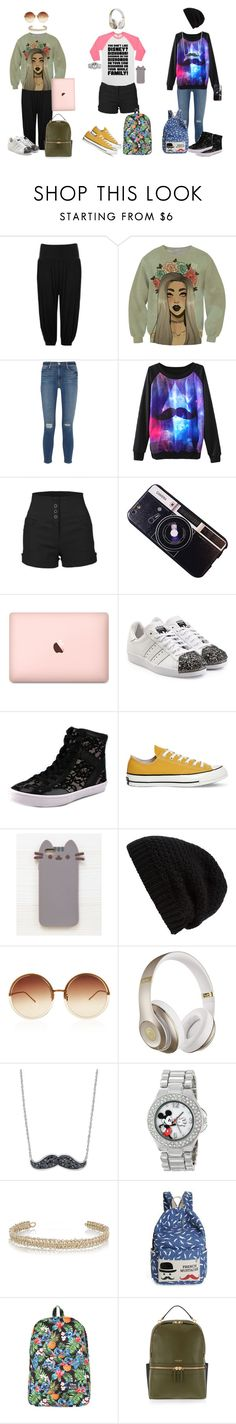 """""""Back 2 school BFF'S - Part 2"""" by jedezepo on Polyvore featuring WearAll, Frame Denim, LE3NO, Chicnova Fashion, adidas Originals, Rebecca Minkoff, Converse, Pusheen, Rick Owens and Linda Farrow"""