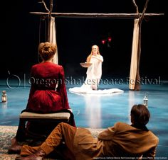 Oregon Shakespeare Festival. SEAGULL (2012): Kathryn Meisle, Nell Geisslinger, Al Espinosa. Photo: Jenny Graham.
