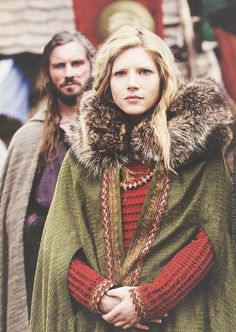 Lagertha and Rollo, Vikings, season 1.
