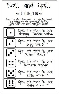 Spelling game to help remember words.