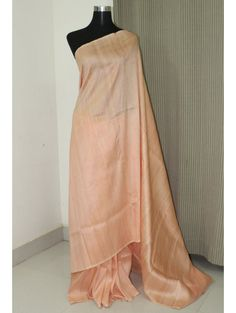 Buy Exclusive Peach Pure 80 gram Handloom Raw Silk Saree Online Shopping from Paarijaatham Shibori Sarees, Dupion Silk Saree, Raw Silk Saree, Pure Silk Sarees, Silk Sarees Online Shopping, Plain Saree, Saree Models, Bridal Outfits, Mulberry Silk