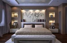 Image of: modern bedroom wall designs master bedroom image of modern bedroom wall decor cute Bedroom Wall Designs, Bedroom False Ceiling Design, Luxury Bedroom Design, Bedroom Furniture Design, Bedroom Ceiling, Small Room Bedroom, Master Bedroom Design, Small Living Rooms, Bedroom Colors