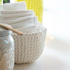 DIY déco : tricoter une corbeille Plus