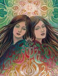 Mythological Goddess Art by Emily Balivet - Mystic Sisters Art Nouveau, Psychedelic Art, Goddess Art, Mystique, Pagan, Wicca, Female Art, Fantasy Art, Original Paintings