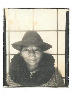 Vintage-photo-booth African American woman