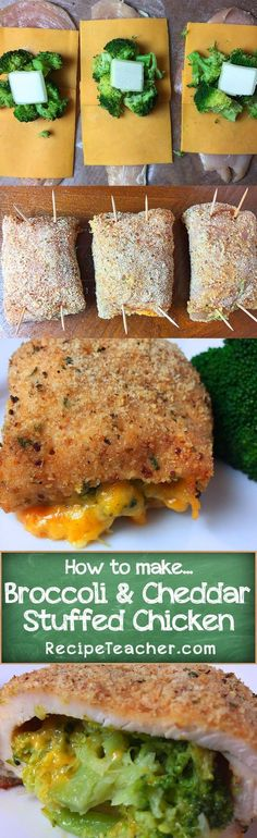 Stuffed chicken breast with broccoli and cheddar recipe. Easy and perfect to make tonight!