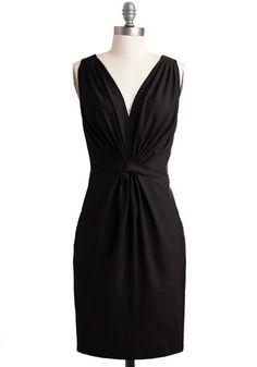 A simple black dress like this can be dressed up or down many different  ways with the rights accent pieces and accessories.