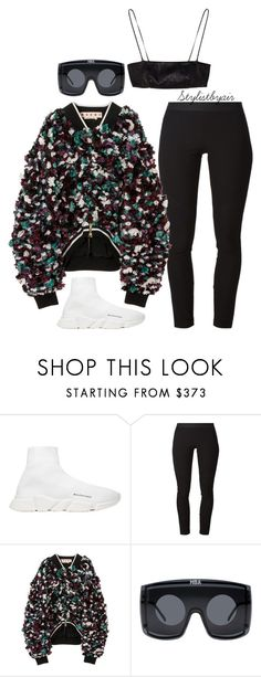 """""""Untitled #7103"""" by stylistbyair ❤ liked on Polyvore featuring Balenciaga, Helmut Lang, Marni and Hood by Air"""