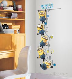 Despicable Me 2 Growth Chart Peel and Stick Wall Decals Wall Decal - AllPosters.ca