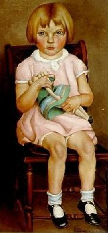 Little Four Year Old Girl by Otis William Oldfield (1890-1969), American was one of the artists involved in the New Deal Public Works Art Project  in the Coit Tower mural (Bjws)