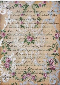 Letters and other letter . Discussion on LiveInternet - Russian Service Online Diaries Decoupage Vintage, Vintage Crafts, Shabby Vintage, Vintage Ephemera, Vintage Paper, Vintage Flowers, Background Vintage, Paper Background, Vintage Backgrounds