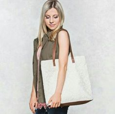 """Coming Soon! This fashion tote features embroidered mesh. Fits with double straps, 2 open pockets, 1 zip pocket and snap closure.   Measurements: 3""""W x 14""""L x 15""""H ( 24"""" with shoulder strap).   No trades  ✔Reasonable offers considered Bags Totes"""