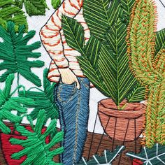 Detail.  Embroidery by Sarah K. Benning