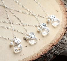 Bridesmaid Necklace Gift Set of FOUR 4 Sterling by BijouxbyMeg, $115.00