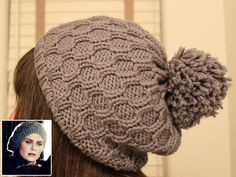 Knitting Pattern for Bones Inspired Blizzard Hat - Cambria Washington's slouchy tam was inspired by the one Temperance Brennan wore in the Bones episode, The Blackout in the Blizzard. Pictured project by Urbanizer