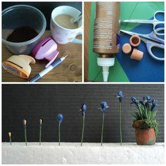 Making miniature dollhouse irisses