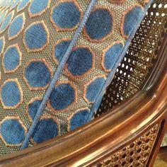 Nina Campbell's beautiful velvet spot, Gioconda - available in six colours…