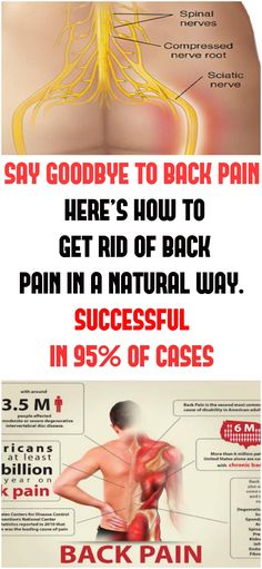 SAY GOODBYE TO BACK PAIN. HERE'S HOW TO GET RID OF BACK PAIN IN A NATURAL WAY. SUCCESSFUL IN 95% OF CASES!!