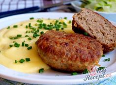 No Salt Recipes, Beef Recipes, Cooking Recipes, Czech Recipes, Ethnic Recipes, Tasty, Yummy Food, Meatloaf, Salmon Burgers