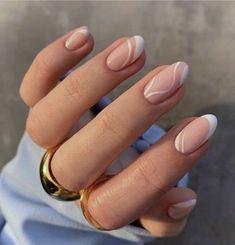 Frensh Nails, Chic Nails, Stylish Nails, Swag Nails, Nail Manicure, Manicure For Short Nails, Simple Wedding Nails, Chic Nail Art, Gel Nails French