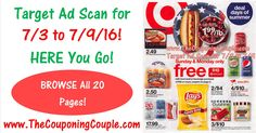 Who is Ready to Check out NEXT WEEKS Target Ad??? Here is the TARGET AD SCAN FOR 7/3 to 7/9/16*** ***PLEASE HELP US OUT BY SHARING THIS POST and LEAVING A COMMENT BELOW*** Click the PICTURE below to BROWSE all of the Pages of the ACTUAL TARGET AD SCAN for 7/3 to 7/9/16 ► http://www.thecouponingcouple.com/target-ad-scan-for-7-3-to-7-9-16/  PLEASE USE the SHARE button below the Picture to SHARE this Ad Scan with your Family and Friends it really helps us out by spreading
