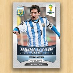 FIFA BRAZIL - Lionel Messi #1 This card is part of the Prizm World Cup Brazil album