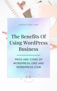 What Are The Benefits Of WordPress Business?   Website Development - What are the benefits of WordPress Business? It's extremely powerful, adaptable to new features and allows access to thousands of free and premium themes and plugins. Click here to learn why WordPress is a great choice. Sugar and Code   WordPress For Beginners   Blogging For Beginners   Website Design   Business Branding   WordPress Website Design   WordPress Templates   WordPress Themes For Bloggers Business Branding, Business Design, Wordpress Website Design, Wordpress Template, Business Website, Blogging For Beginners, Website Template, Web Design, Apps