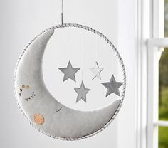 Let these baby mobiles hang overhead as your baby goes to sleep. Shop Pottery Barn Kids' crib mobiles featuring animal and nature mobile. Star Mobile, Moon Nursery, Star Nursery, Pottery Barn Kids, Diy Bebe, Hanging Mobile, Paper Stars, Baby Room Decor, Nursery Decor