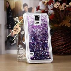 Glitter Stars Dynamic Liquid Quicksand Hard Case Cover For Samsung Galaxy S5 I9600 Transparent Clear Phone Case YC211