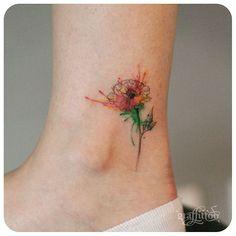 poppy :-) #타투이스트리버 #타투 #그라피투 #tattoo #graffittoo #수채화타투 #watercolortattoo