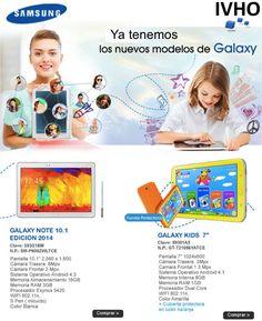 Conoce y disfruta de los nuevos modelos de Tablet Samsung Galaxy ya disponibles desde hoy, regala a los mas queridos de la casa, los pequeños, una tablet que les durara muchos años.  Consulta precios con Daniel Rodriguez en su numero directo 8421-4026 (DF y Area Metropolitana).  ¡Recuerda que el envío va por nuestra cuenta!