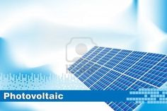Solar power, renewable energy.  Brochure cover or Business card Stock Photo