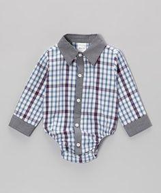 Joe-Ella Gray Stripe Button-Up Bodysuit - Infant by Joe-Ella #zulily #zulilyfinds