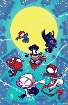 "#Spiderman #Fan #Art. (Baby ""Web warriors"" #1 Varient Cover) By: Skottie Young. (THE * 5 * STÅR * ÅWARD * OF: * AW YEAH, IT'S MAJOR ÅWESOMENESS!!!™)[THANK Ü 4 PINNING<·><]<©>ÅÅÅ+(OB4E)"
