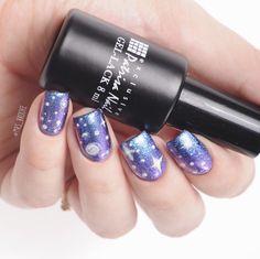 Nails by Brooke: Patrisa Nail H5 Хамелеон. Космос на ногтях гель лаками