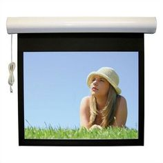 "Twin-Vu Lectric I RF Motorized Screen - 84"" x 84"" AV Format by Vutec. $1266.99. 01-LRF084-084TV Features: -Plug and View - no additional wiring required.-Surface mount for wall or ceiling.-Quiet motor-in-roller design.-Ribbed aluminum roller featuring Vutec's FRS (Fabric Relief Step).-Standard 12'' black leader.-6 ft. cord length.-Designed for supported fabrics.-Proprietary RF does not interface with external control systems.-Meets requirement for fire-resistant and low smoke-pro..."