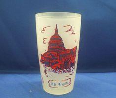 Washington DC Frosted Glass Souvenir Tumbler