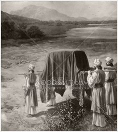 Israel enters the Promised Land with the Ark of the Covenant