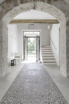 Ambiente - Materialien - Steinmosaik-Inlay als Optimierung fūr Arbeitszimmer-Boden