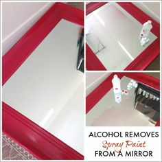 Painting tip: use rubbing alcohol to remove spray paint from a mirror | Honey We're Home