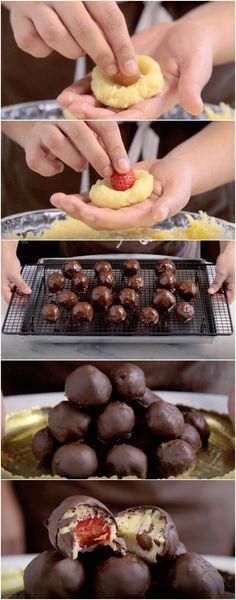 Bombons de Uva e Morango super fáceis de fazer! (veja a receita passo a passo) #bombons #uva #morango #tastemade