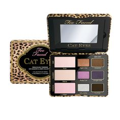 This purrrfect palette features nine new shades in matte, shimmer and glitter textures, three that can be worn wet-and-dry. It's the cat's meow. <3