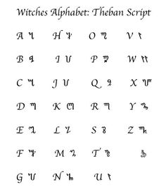 the wiccan alphabet - Google Search