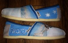 Custom Hand Painted Shoes Frozen by FancyFeet4U on Etsy