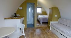 Campsite and luxurious Glamping lodges, Inis Mór, The three Aran islands at the mouth of Galway Bay on the Wild Atlantic Way, Ireland.