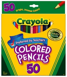 Crayola 50ct Long Colored Pencils