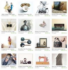 Collection of Mad Men themed items on Etsy